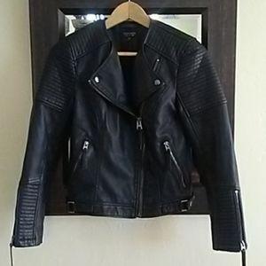Top Shop Faux Leather Motto Jacket